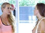 fitness porn nicole aniston with  abigail macby gets tight pussy banged