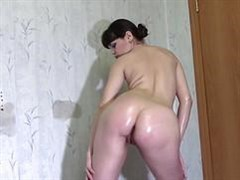 in the room playing with herself naked girl in oil