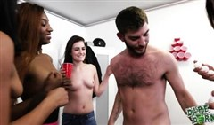 lesbians in group sex at a student party
