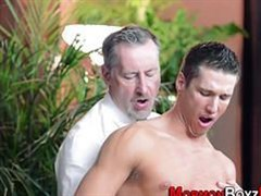 mature gay energetically ass fingering guy dick