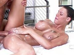 oiled hottie fucked with big tits beauty