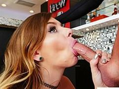 tanned macho fucked sharply beloved wife in the kitchen
