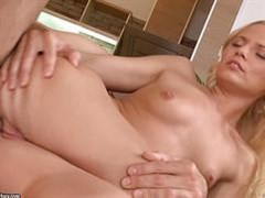 Ugly blonde gets a passionate sex in the ass