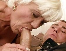 hot grandma fucking a young boy