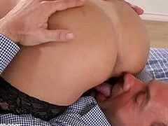 Lusty playful went to the mistress for sex