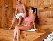 pattty michova pussy licked and fucked in sauna